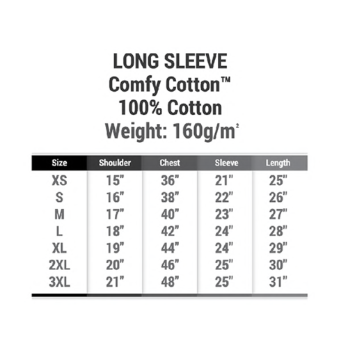 CT54 Long Sleeve Comfy Cotton RN (160 gsm) 3