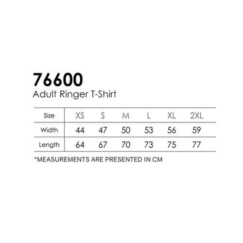Gildan 76600 Ringer Cotton Shirt (180 gsm) 3