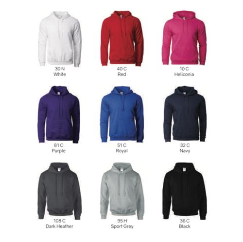 Gildan 88500 Adult Hooded Sweat Shirt 2