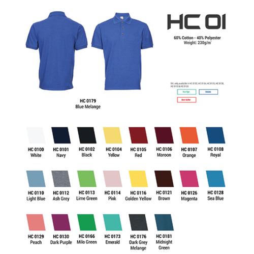 HC01 Plain Honeycomb Polo (Unisex) 2