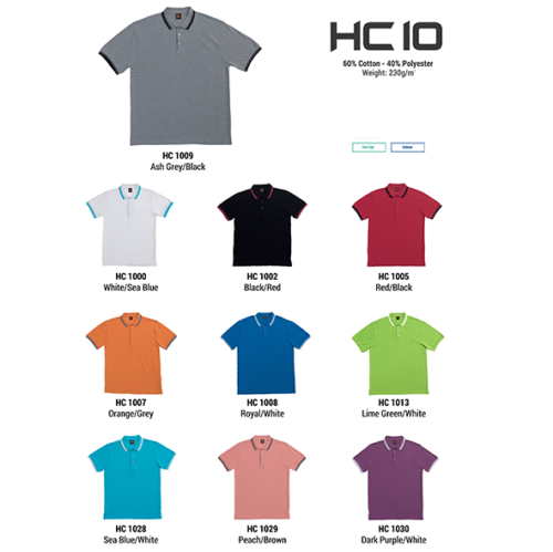 HC10 Two Tone Honeycomb Polo Shirt 2