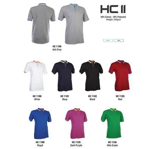 HC11 Two Tone Honeycomb Polo Shirt 2