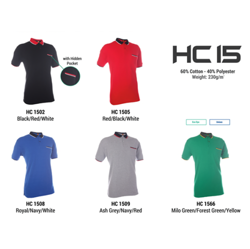 HC15 Two Tone Honeycomb Polo Shirt 2
