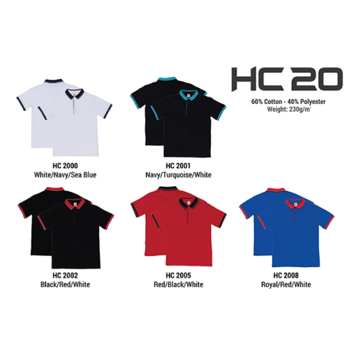 HC20 Two Tone Honeycomb Polo Shirt 2