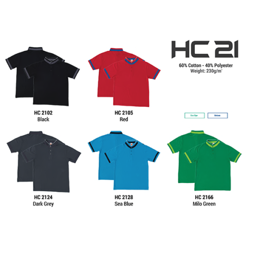 HC21 Two Tone Honeycomb Polo Shirt 2