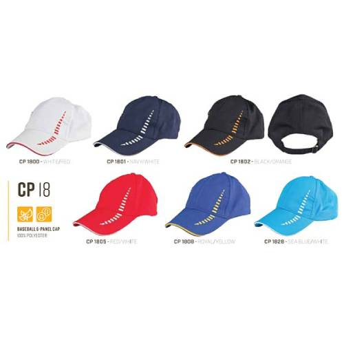 CP 18 Baseball 6 Panel 100% Polyester Cap 5