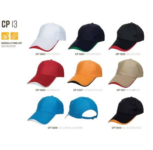 CP 13 Baseball 6 Panel 100% Polyester Cap 5