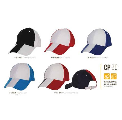 CP 20 Baseball 6 Panel 100% Cotton Cap 2