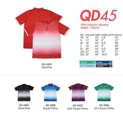 QD47 Polyester Interlock Polo 2