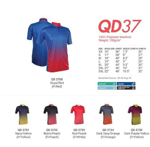 QD37 Polyester Interlock Polo 2