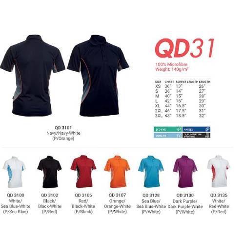 QD31 Microfibre Dri Fit Polo 2