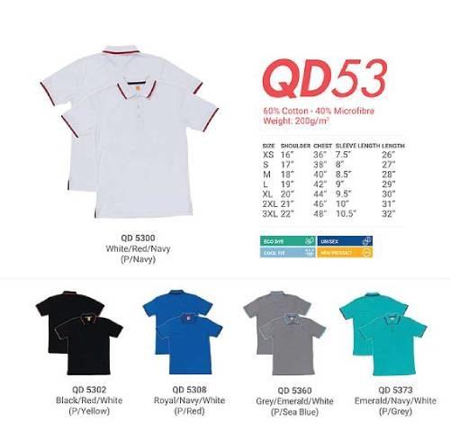 QD53 Mixed Cotton Microfibre Polo 2