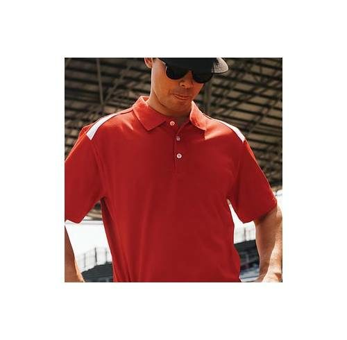 QD34 Mixed Cotton Microfibre Polo 1