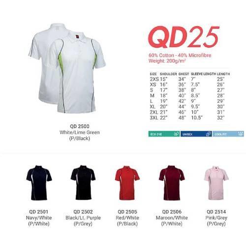 QD25 Mixed Cotton Microfibre Polo 2