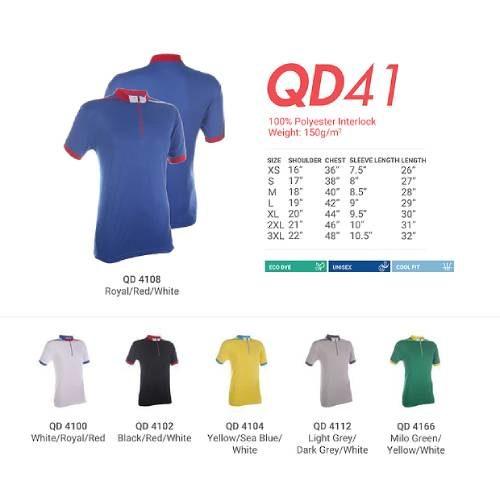 QD41 Polyester Mandarin Polo 2