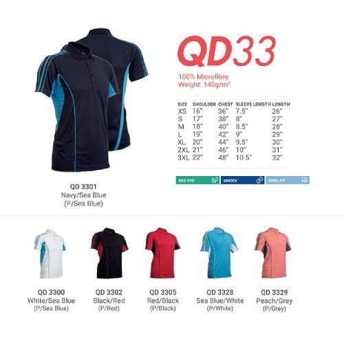 QD30 Microfibre Mandarin Polo 2