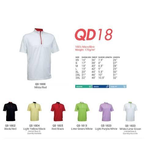 QD18 Microfibre Mandarin Polo 2