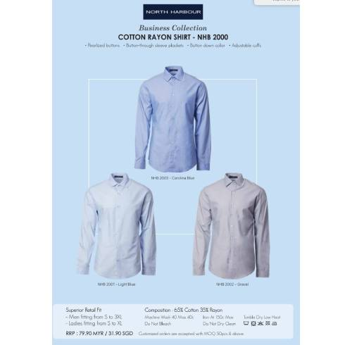 COTTON REYON SHIRT - NHB 2000 7
