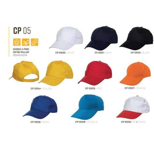 CP 05 Baseball 5 Panel 100% Polyster Cap 2