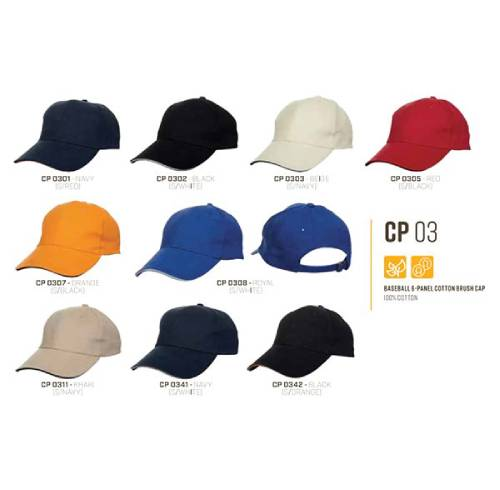 CP 03 Baseball 6 Panel 100% Cotton Cap 3