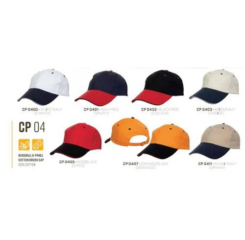 CP 04 Baseball 6 Panel 100% Cotton Cap 3