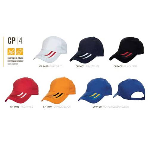 CP 14 Baseball 6 Panel 100% Cotton Cap 2