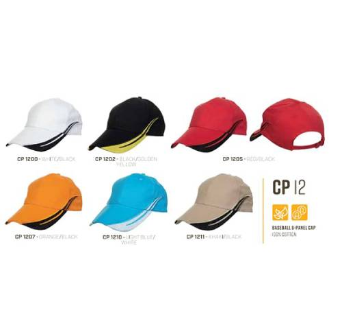 CP 12 Baseball 6 Panel 100% Cotton Cap 2