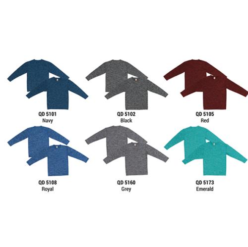 QD51 Plain Cationic Polyester Interlock Roundneck (Long Sleeve) 2