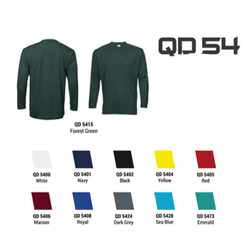 QD54 Quick Dry Fit Long Sleeve Roundneck 2