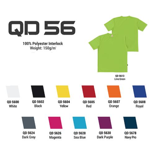 QD56 100% Polyester Interlock Roundneck 2