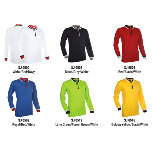 SJ05 Polyester Cotton Long Sleeve Polo Shirt 2