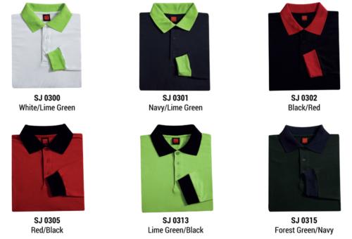 SJ03 Polyester Cotton Long Sleeve Polo Shirt 2