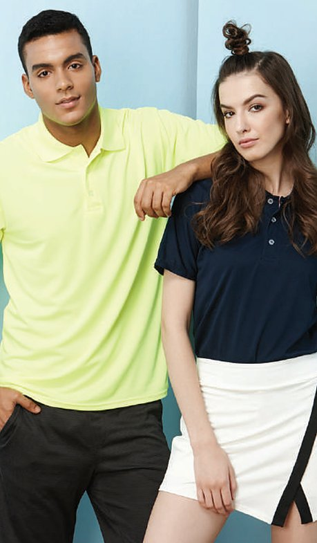 QD44 Polyester Interlock Polo 2