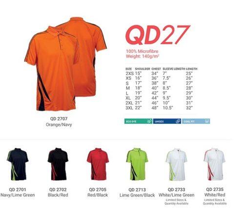 QD27 Microfibre Dri Fit Polo 2