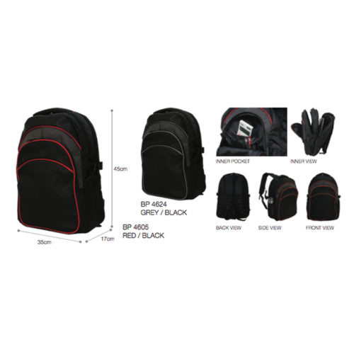 BP4605 / BP4625 (Red-Black/Grey-Black) Nylon 1680D 1