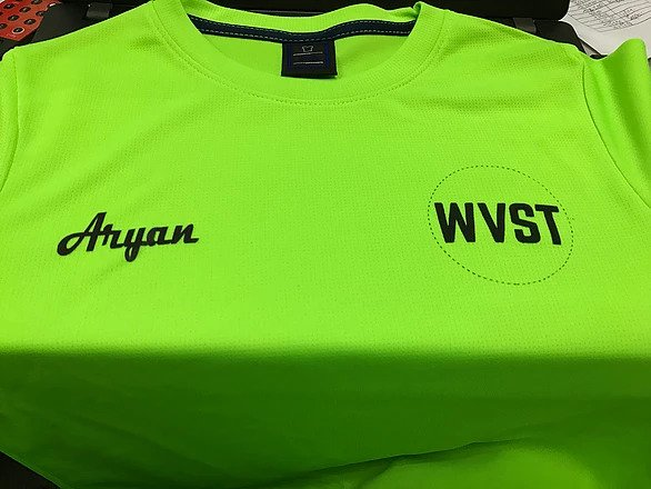 Neon green dry fit roundneck 1