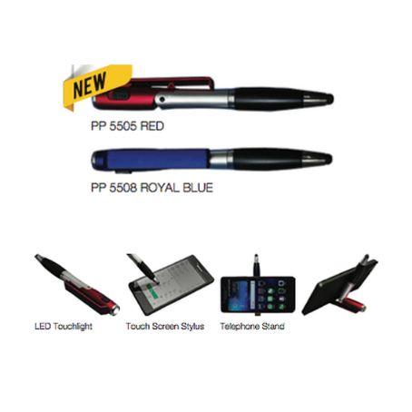 PP55 Multi Function Plastic Pen w/ Black Ink 1