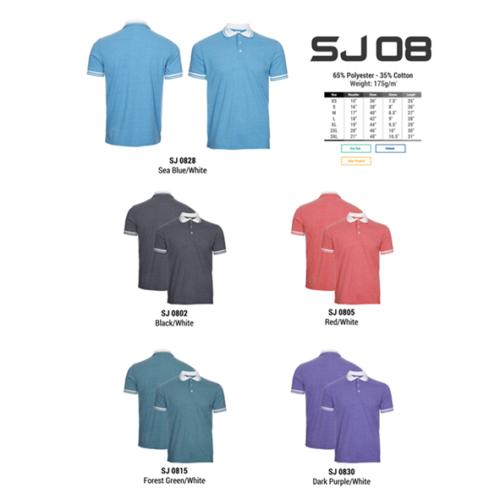 SJ08 Polyester Cotton Polo Shirt 2